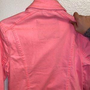 Abercrombie & Fitch Jackets & Coats - Neon Pink denim jacket